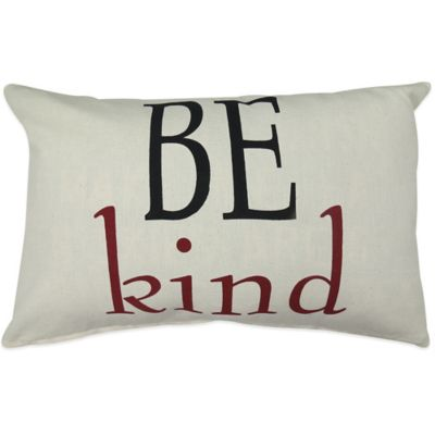 "The Vintage House by Park B. Smith® ""Be Kind"" Oblong Throw Pillow"