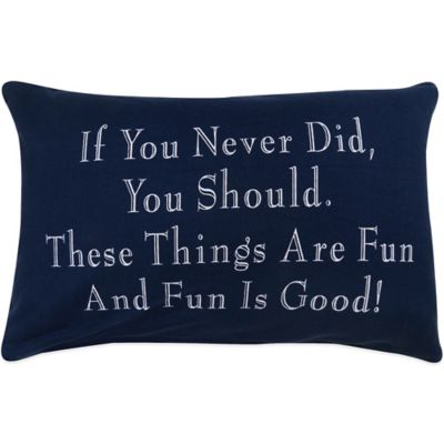 "The Vintage House by Park B. Smith® ""Fun Things"" Oblong Throw Pillow"