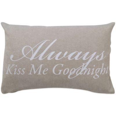 "The Vintage House by Park B. Smith® ""Good Night"" Oblong Throw Pillow"