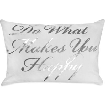 "The Vintage House by Park B. Smith® ""Happy"" Oblong Throw Pillow"