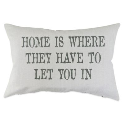 "The Vintage House by Park B. Smith® ""Home Is"" Oblong Throw Pillow"