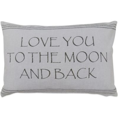 "Park Moon"" Oblong Throw Pillow"