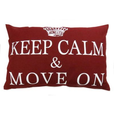 "The Vintage House by Park B. Smith® ""Move On"" Oblong Throw Pillow"