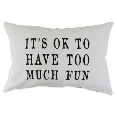 "Park OK Fun"" Oblong Throw Pillow"