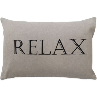 """The Vintage House by Park B. Smith® """"Relax"""" Oblong Throw Pillow"""