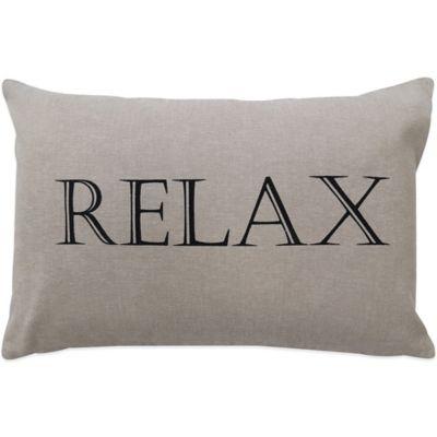 Relax Oblong Throw Pillow Decorative Pillows
