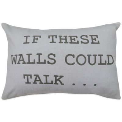 """The Vintage House by Park B. Smith® """"Wall Talk"""" Oblong Throw Pillow"""