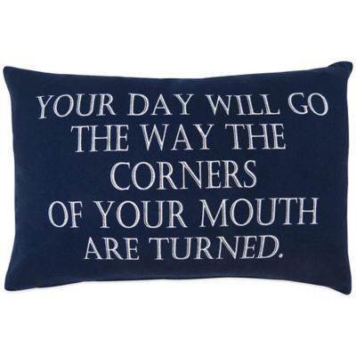 "The Vintage House by Park B. Smith® ""Your Day"" Oblong Throw Pillow"