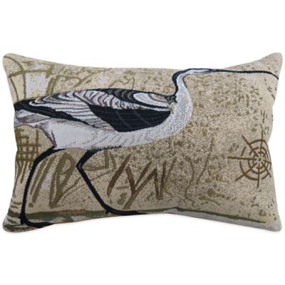 The Vintage House by Park B. Smith® Beach Bird Tapestry Oblong Throw Pillow