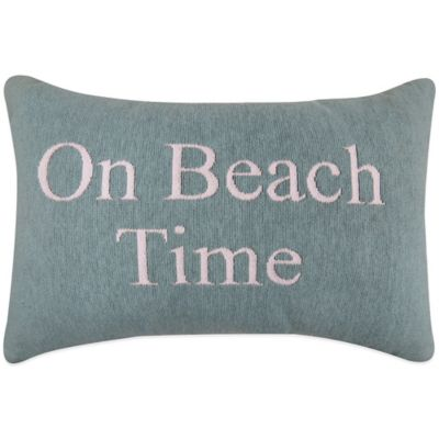 "The Vintage House by Park B. Smith® ""Beach Time"" Tapestry Oblong Throw Pillow"