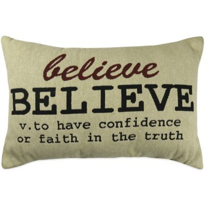 """The Vintage House by Park B. Smith® """"Believe"""" Tapestry Oblong Throw Pillow"""