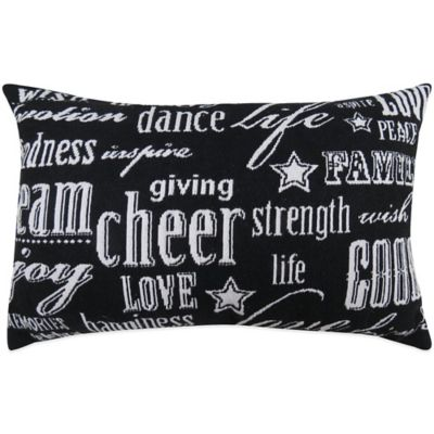 """The Vintage House by Park B. Smith® """"Cheer"""" Tapestry Oblong Throw Pillow"""