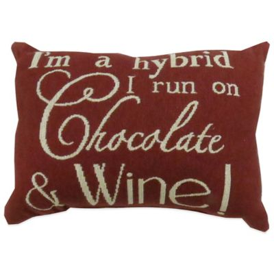 """The Vintage House by Park B. Smith® """"Chocolate and Wine"""" Tapestry Oblong Throw Pillow"""