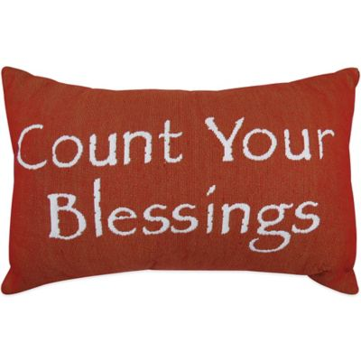 "The Vintage House by Park B. Smith® ""Blessings"" Tapestry Oblong Throw Pillow"