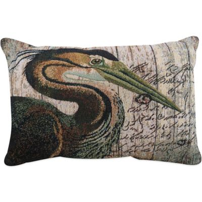 The Vintage House by Park B. Smith® Crane Tapestry Oblong Throw Pillow