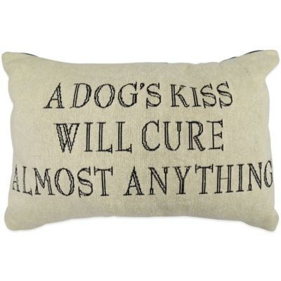 "The Vintage House by Park B. Smith® ""Dogs Kiss"" Tapestry Oblong Throw Pillow"