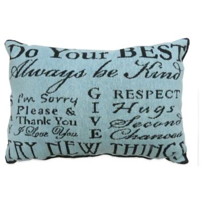 "The Vintage House by Park B. Smith® ""Do Your Best"" Tapestry Oblong Throw Pillow"