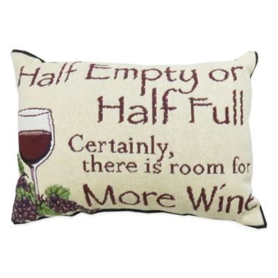 """The Vintage House by Park B. Smith® """"Half Empty"""" Tapestry Oblong Throw Pillow"""