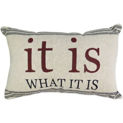 "The Vintage House by Park B. Smith® ""It Is"" Tapestry Oblong Throw Pillow"