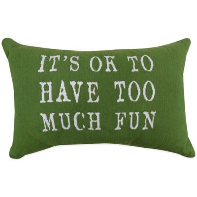 "The Vintage House by Park B. Smith® ""OK Fun"" Tapestry Oblong Throw Pillow"