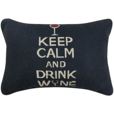 "The Vintage House by Park B. Smith® ""Keep Calm & Drink"" Tapestry Oblong Throw Pillow"
