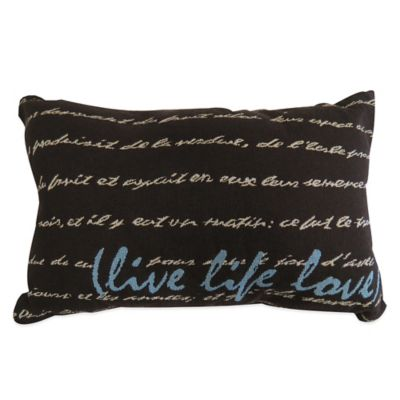"The Vintage House by Park B. Smith® ""Live Life Love"" Tapestry Oblong Throw Pillow"