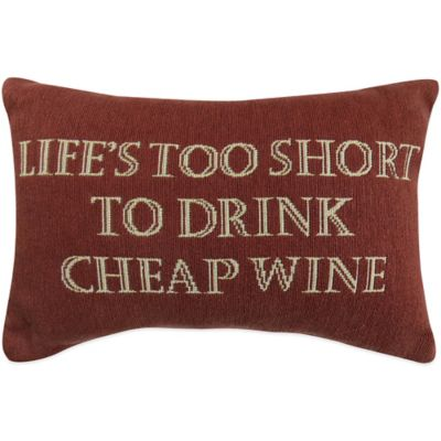 "The Vintage House by Park B. Smith® ""Life N Wine"" Tapestry Oblong Throw Pillow"
