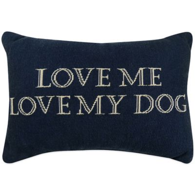 "The Vintage House by Park B. Smith® ""Love Dog"" Tapestry Oblong Throw Pillow"