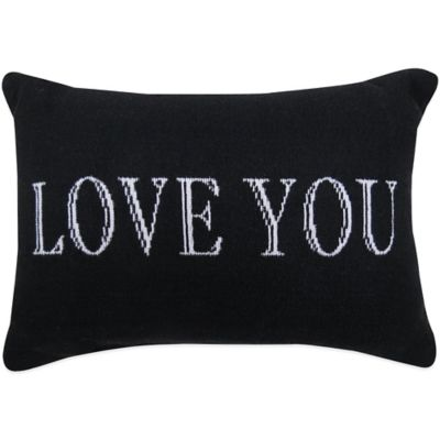 "The Vintage House by Park B. Smith® ""Love You"" Tapestry Oblong Throw Pillow"