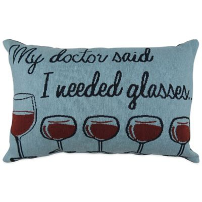 My Doctor Said Tapestry Oblong Throw Pillow