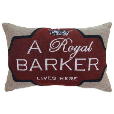 "The Vintage House by Park B. Smith® ""Royal Barker"" Tapestry Oblong Throw Pillow"