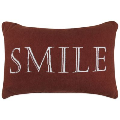 "The Vintage House by Park B. Smith® ""Smile"" Tapestry Oblong Throw Pillow"