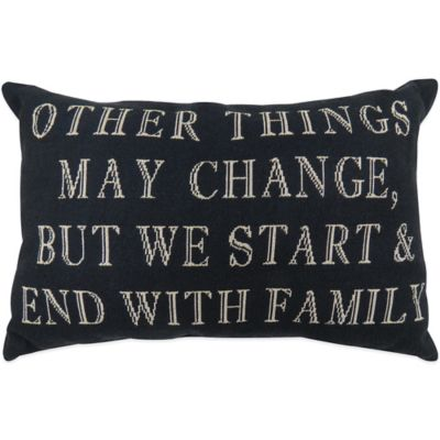 "Family"" Tapestry Oblong Throw Pillow Throw Pillows"
