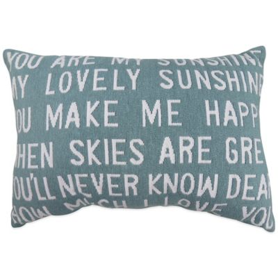 "The Vintage House by Park B. Smith® ""You Are My Sunshine"" Tapestry Oblong Throw Pillow"