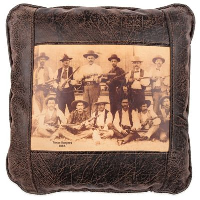 Sweetwater Trading Company Texas Rangers Square Throw Pillow in Brown