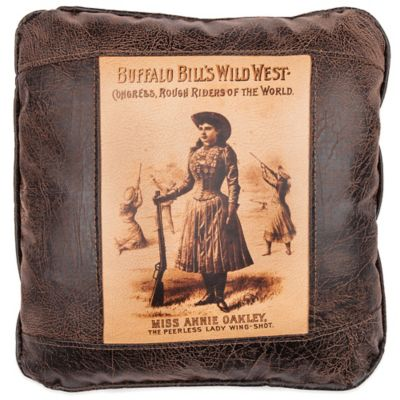 Sweetwater Trading Company Annie Oakley Square Throw Pillow in Brown