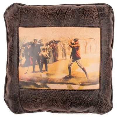 Sweetwater Trading Company On The Tee Square Throw Pillow in Brown