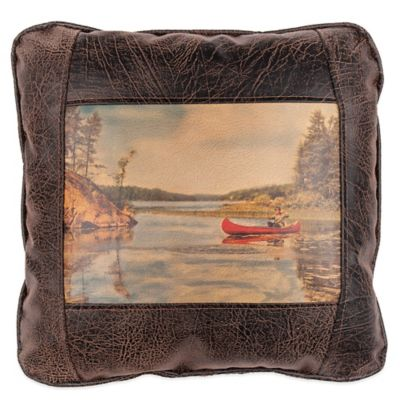 Sweetwater Trading Company Where's Gramps Square Throw Pillow in Brown