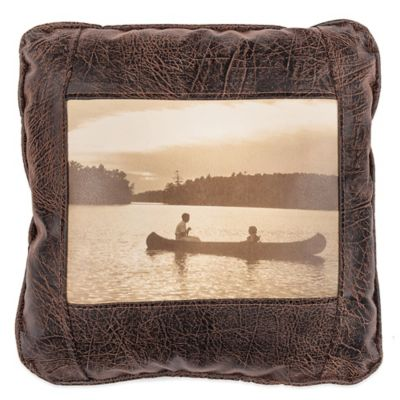 Sweetwater Trading Company Sunset Cruise Square Throw Pillow in Brown