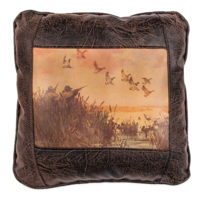 Sweetwater Trading Company Duck Hunting Square Throw Pillow in Brown