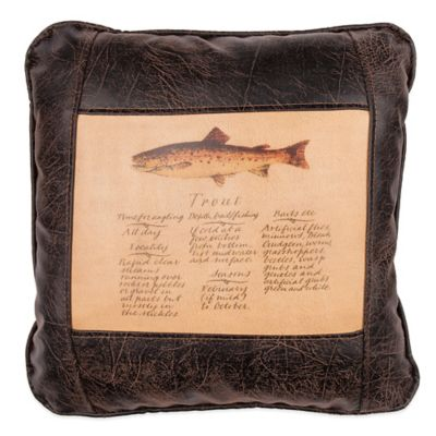 Sweetwater Trading Company Trout Guide Square Throw Pillow in Brown