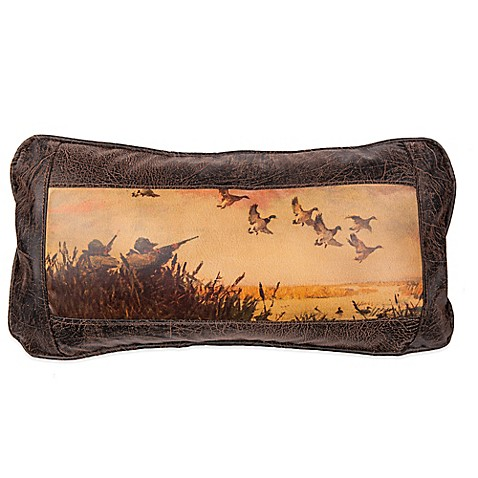 Buy Sweetwater Trading Company Duck Hunting Oblong Throw Pillow in Brown from Bed Bath & Beyond