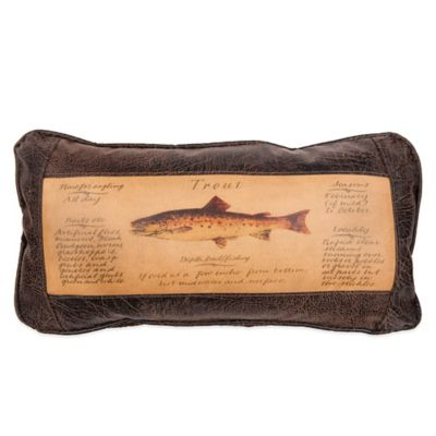 Sweetwater Trading Company Trout Guide Oblong Throw Pillow in Brown