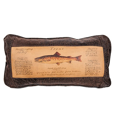 Buy Sweetwater Trading Company Trout Guide Oblong Throw Pillow in Brown from Bed Bath & Beyond