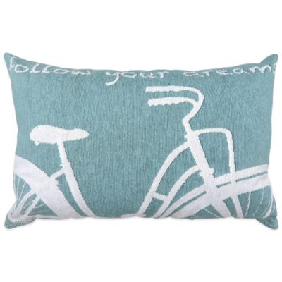 """Vintage House by Park B. Smith® """"Follow Your Dreams"""" Tapestry Oblong Throw Pillow in Aquamarine"""