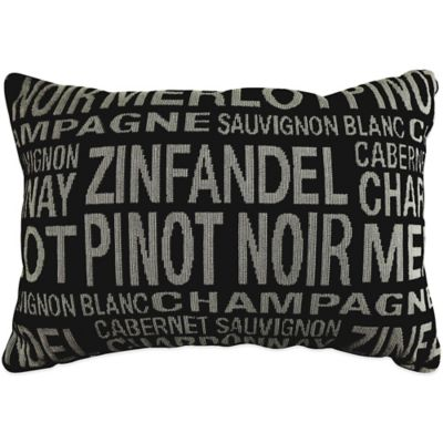 """The Vintage House by Park B. Smith® """"Merlot"""" Tapestry Oblong Throw Pillow in Black"""