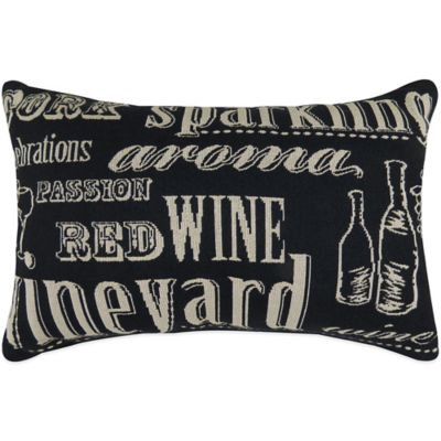 """The Vintage House by Park B. Smith® """"Sparkling"""" Tapestry Oblong Throw Pillow in Black"""