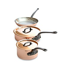 Mauviel M'heritage 250c Cuprinox Copper 5-Piece Cookware Set and Open Stock