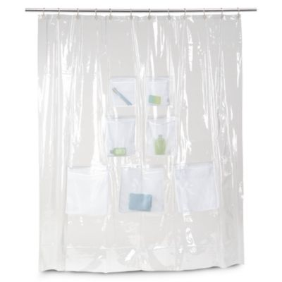 Mesh Pockets Shower Curtain