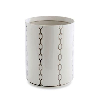 Kassatex Cadena Porcelain Wastebasket